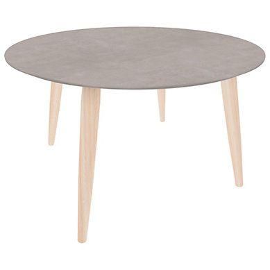Table Basse Scandinave Ronde Manon Beton Table Basse Table Basse Ronde Table Basse Scandinave