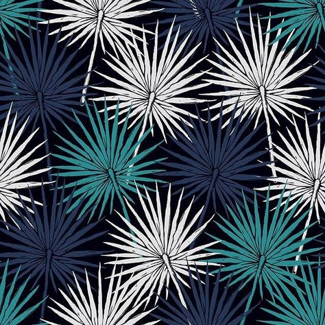 palm leaf repeating pattern textile design