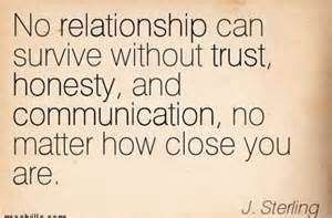Quotes About Honesty And Trust In A Relationship ...