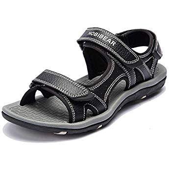 Skechers Men 51874 Ankle Strap Sandals, Black (Black), 6 UK