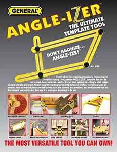 Angle-Izer Ultimate Tile & Flooring Template Tool Multi-Angle Ruler Hot Handmade
