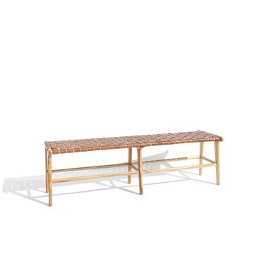 Bench 2 In Whiskey In 2020 Scandinavian Benches Leather Headboard Teak Frame