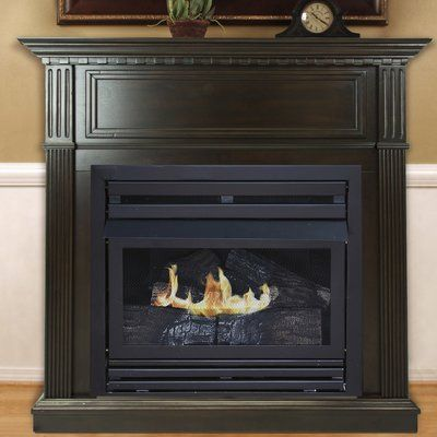 Darby Home Co Shela Propane Fireplace Finish Rich Ventless