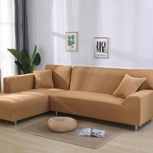 L Shape Need 2 Pieces Solid Corner Sofa Covers For Living Room Elastic In 2020 Corner Sofa Covers Sectional Sofa Slipcovers L Shaped Sofa