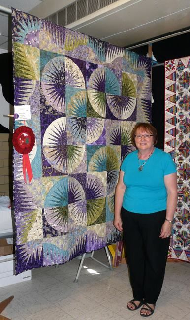 Japanese Fan, Quiltworx.com, Made by Sue Bainter.