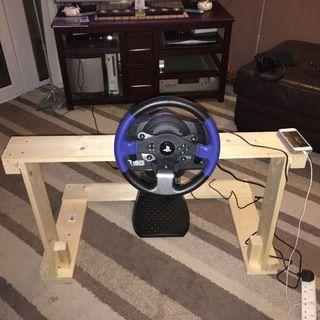 Diy Steering Wheel Stand With Images Steering Wheel Ps4