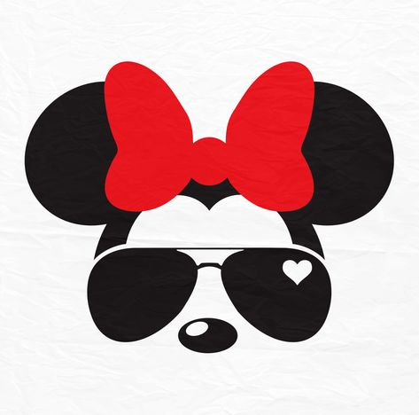 SVG Mickey Mouse Face Vector Layered Cut File Silhouette Cameo Cricut Design Template Stencil Vinyl Decal Tshirt Heat Transfer Iron on
