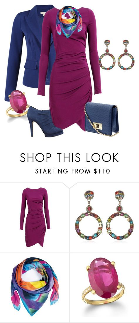 """""""aubergine dress"""" by anfernee-131 ❤ liked on Polyvore featuring MICHAEL Michael Kors, Cut25, Tinley Road, Nine West, michaelkors, ninewest, AdelChefridi and MichalGolan"""