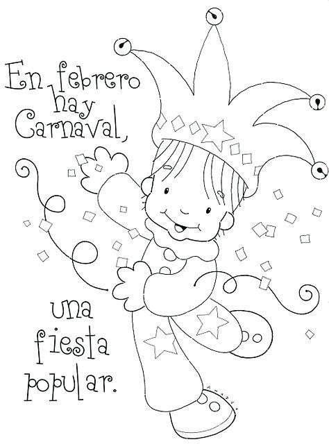 Antifaz Para Colorear De Arlequin Buscar Con Google Rimas Infantiles Poemas De Preescolar Poesia Para Ninos