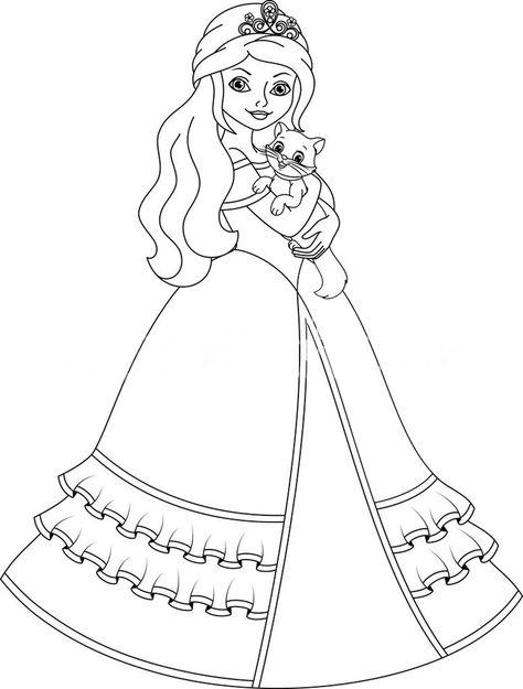 Prenses Boyama Sayfası Boyamalar Princess Coloring Pages