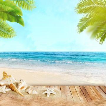 Summer Beach Bright Background Beach Background Beach Posters Summer Sale Poster