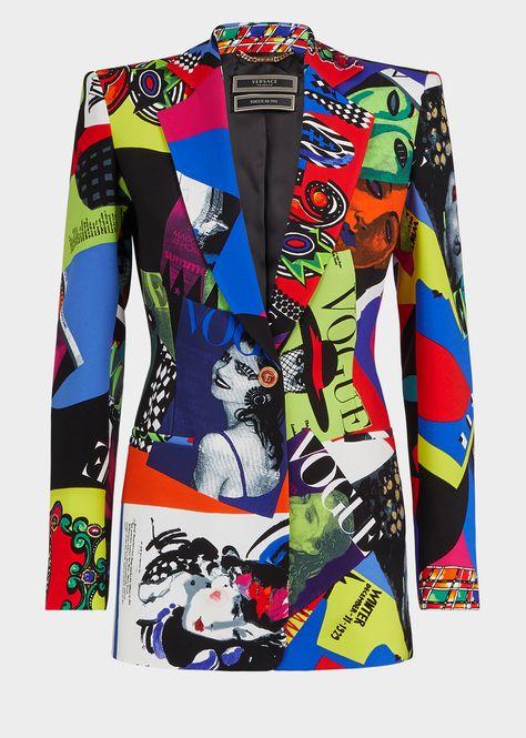 Versace Vogue Print Blazer Jacket for Women