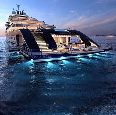 """House on water """"GLEAM"""" Yacht Courtesy of our friend . - Vicky Molyva - - House on water """"GLEAM"""" Yacht Courtesy of our friend . Yacht Design, Super Yachts, Luxury Cars, Luxury Homes, Luxury Travel, Luxury Yacht Interior, Private Jet Interior, Bateau Yacht, Cool Boats"""