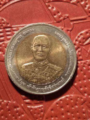 Details Sur Thailande 10 Baht 2552 2009 Co Baht