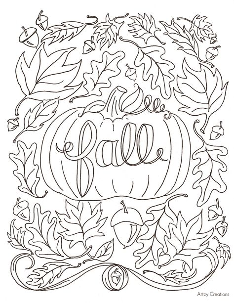 Hi Everyone! Today, I'm sharing with you my first FREE Coloring Page. I have been wanting to create these for so long and finally got the chance to get one done and I'm so excited to be able to share it with all of you. In the spirit of fall, the coloring page has everything…