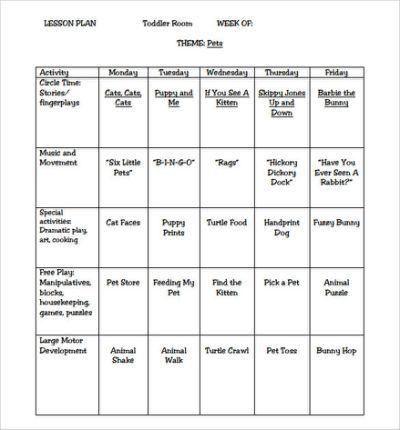 Sample Toddler Lesson Plan Template Preschool Lesson Plan Template Curriculum Lesson Plans Toddler Lesson Plans Template