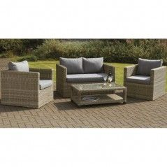 Royalcraft Wentworth Rattan 4pc Sofa Suite Set With Coffee Table Wicker Patio Furniture Sets Garden Sofa Set Resin Wicker Patio Furniture