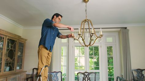 How to Hang a Dining Room Chandelier