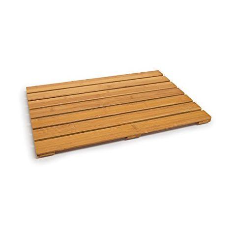Relaxdays Sortie de douche en bois de bambou salle de bain ...