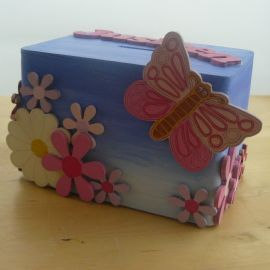 This personalised money box coordinates with our plaque
