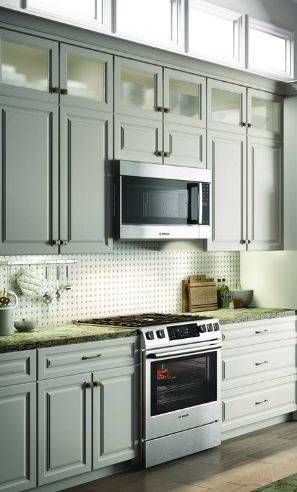 Bosch 500 2 1 Cu Ft Over The Range Microwave With Sensor Lowes Com Range Microwave Bosch Kitchen
