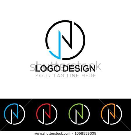 Jn Letter Logo Design Template Vector Eps File Logodesinger Logo Logos Logomaker Logo7 Logologo Logotipo Letter Logo Letter Logo Design N Logo Design