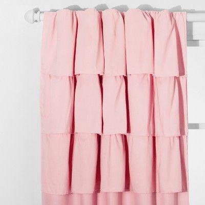 Ruffle Blackout Curtain Panel Pillowfort Ruffle Curtains