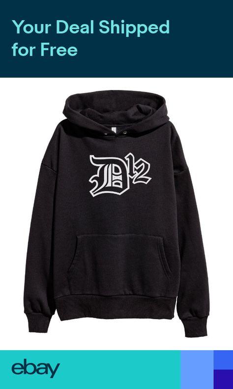 f142a1a0 D12 White Logo Hoodie Hip Hop Rap Sweatshirt Eminem Kamikaze merch Shady  Black