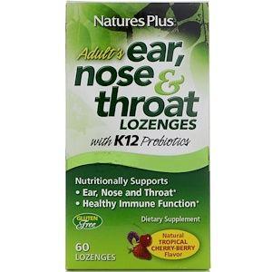 Nature S Plus 成人用耳 鼻 喉のトローチ トロピカル チェリー ベリー味 トローチ60錠 Throat Lozenge Vitamins For Kids Berries