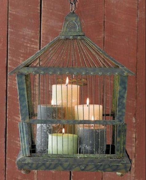 Candle Birdcage Idea - DIY Candle Decor Ideas  - Photos