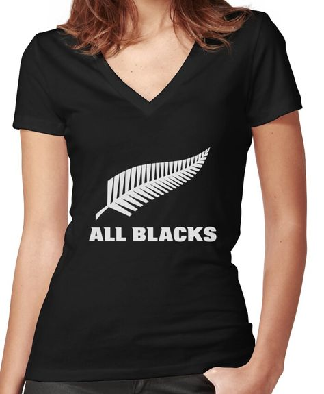 'All Blacks Merchandise' Fitted V-Neck T-Shirt by Lupe Gee