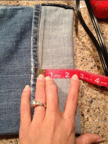 How to hem jeans retaining the original hem...perfect timing as I just inherited a pair of nice (long!) jeans from my tall sister. They fit great in the waist but are like 5 inches too long. Going to give this a whirl!
