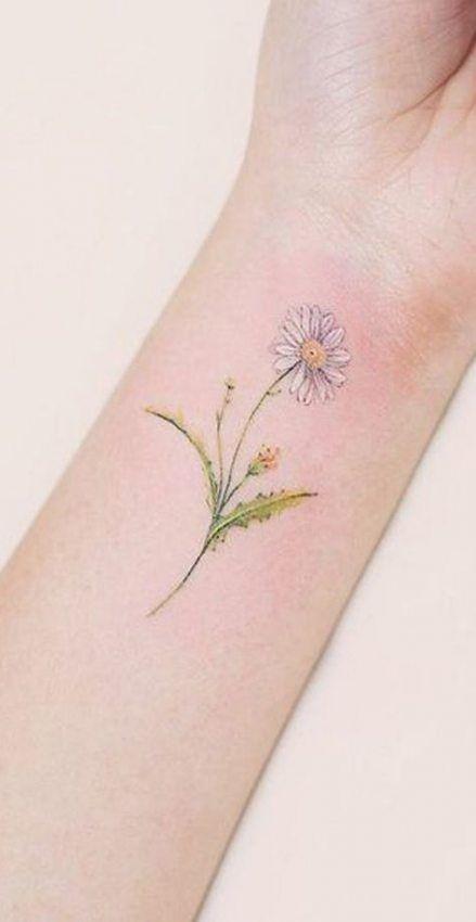34 Trendy Tattoo Ideas Cool Tatoo Flower Wrist Tattoos Delicate Flower Tattoo Daisy Tattoo