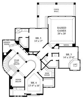 Mediterranean Style House Plan 61851 With 5 Bed 6 Bath 3 Car Garage Hidden Rooms Mediterranean Style House Plans House Plans