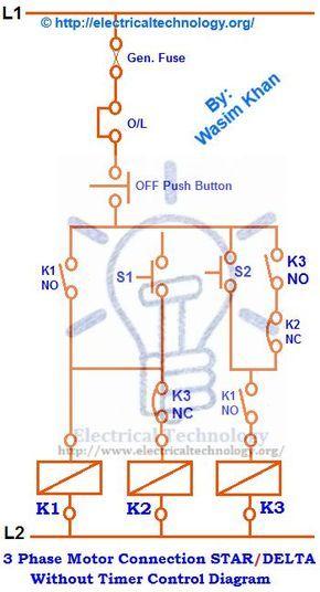 Star Delta Starter Motor Starting Method Power Control Wiring Electrical Circuit Diagram Circuit Diagram Electrical Symbols
