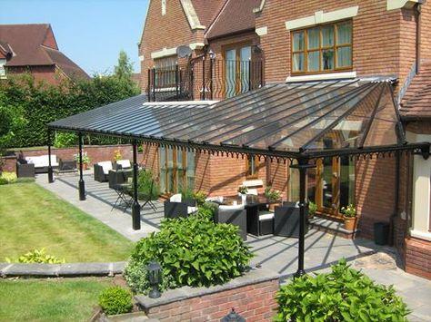 Period Classic Veranda Large Patio Pergola With Roof Pergola