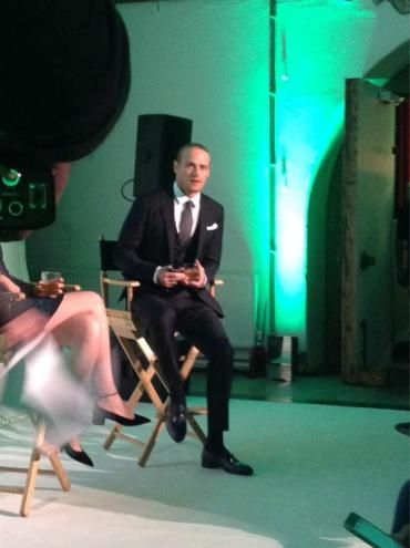 HQ pics of Caitriona Balfe, Sam Heughan and Ron D. Moore