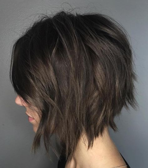 60 Messy Bob hairstyles for your trendy casual looks best hairstyles haircuts Wavy Bob Hairstyles bob Casual haircuts Hairstyles messy Trendy Short Brunette Hair, Short Brown Hair, Short Hair Cuts, Brunette Bob Haircut, Pixie Cuts, Messy Bob Hairstyles, Straight Hairstyles, Brown Hairstyles, Brunette Hairstyles