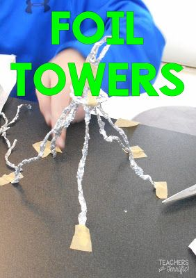 STEM Challenge: This one use two materials and really makes kids learn about perseverance and wise use of materials!