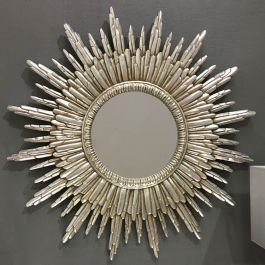 Round Silver Sunburst Wall Mirror 89 X 89cm Sunburst Mirror Gold Sunburst Mirror Starburst Mirror
