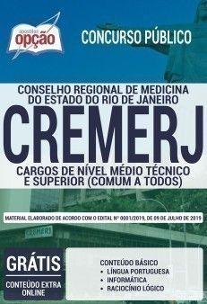 Apostila Impressa E Digital Concurso Cremerj 2019 Cargos De