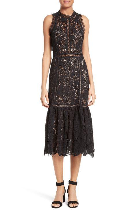 Main Image Rebecca Taylor Arella Lace Midi Dress Dresses