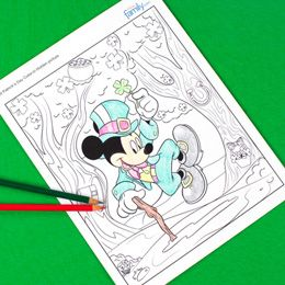 Mickey Mouse St Patrick S Day Hidden Picture Coloring Page