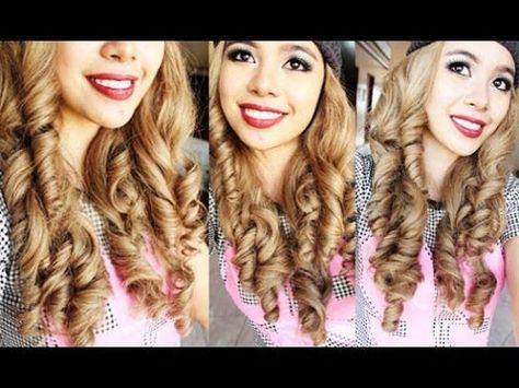 No Heat Big Dolly Curls- Beautyklove - YouTube
