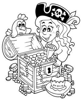 Pirates Coloring Book Ships Mermaids Sea Caribbean Pirate Coloring Pages Coloring Books Pirates