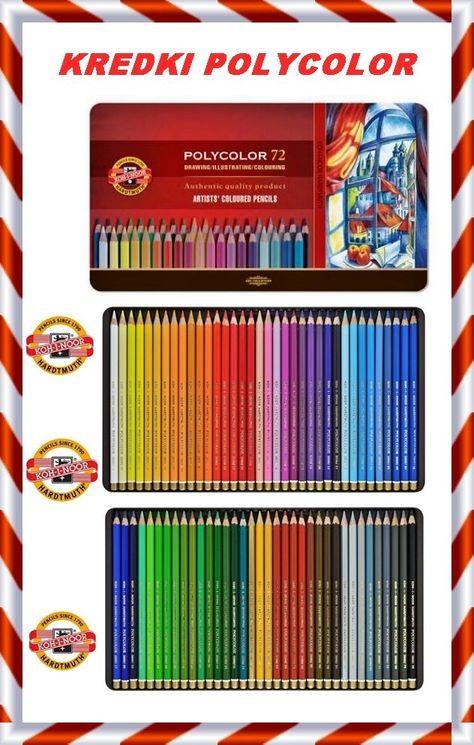 Coloured pencils POLYCOLOR KOH-I-NOOR 72 colours 3827 IN METAL BOX