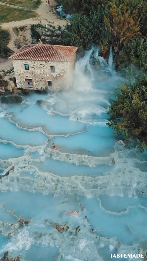 Take a break from reality and virtually transport yourself to the Saturnia hot springs in Italy. Trust us, your worries will just melt away.  via: Bucket Vision & Taylor O'Sullivan