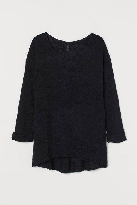Losgebreide trui Zwart DAMES | H&M NL 3