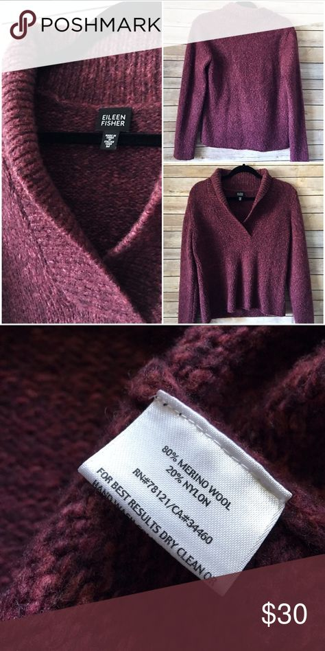 Eileen Fisher Wool Blend Chunky Sweater My Posh Picks Pinterest