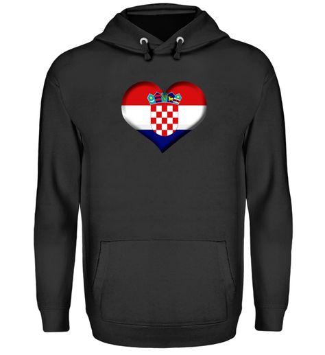 Kroatien Herz Flagge